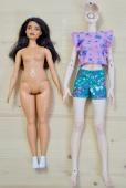 Curvy Barbie and NL Zaya (wearing curvy Barbie's outfit)