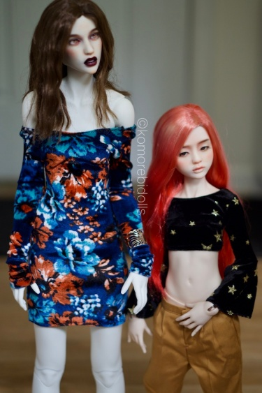 Dollstown17 and Elf bodies. Same scale, different size. Pure resin on left, Oriental on right.